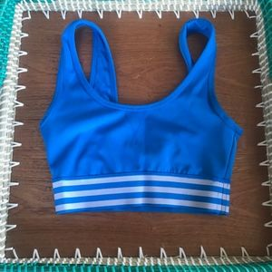 Adidas ClimaLite Women's XS Blue/White Sports Bra
